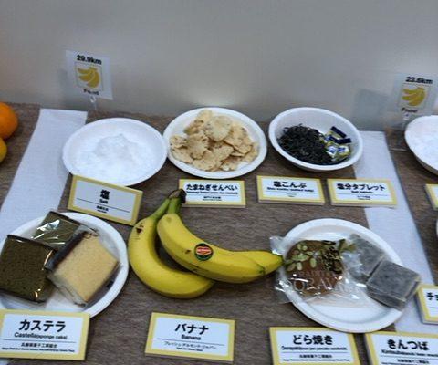 神戸マラソン2019 給食(エイド)の展示写真を貼っておくよ。