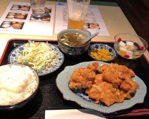 京都マラソン2020後のランチは中華料理・昆明(こんめい)でからあげを食したよ